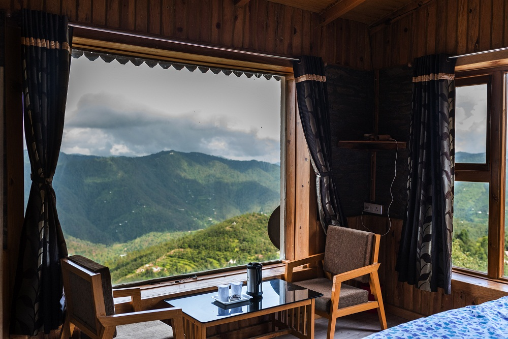 "Room View ""Mukteshwar is a small hill town mostly known for adventure sports"""